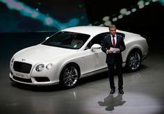 Wolfgang Schreiber, CEO of Bentley Motors, presents the new Bentley GT V8S during a preview by the Volkswagen Group