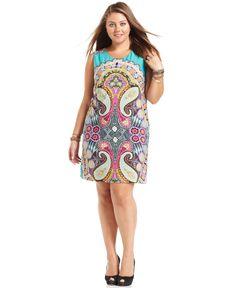 ING Plus Size Dress, Sleeveless Printed Sheath - Plus Size Dresses - Plus Sizes - Macy's