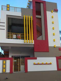 Best 12 Ideas Modern Front Door Plants Home – SkillOfKing. House Front Wall Design, Single Floor House Design, House Ceiling Design, Bungalow House Design, Modern House Design, Floor Design, Front Elevation Designs, House Elevation, Building Elevation