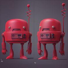 Robot ready for 3d print , Chadwick Dusenbery on ArtStation at https://www.artstation.com/artwork/robot-ready-for-3d-print