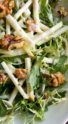 Honey Crisp Apple Salad with Candied Walnuts and Cider Vinaigrette