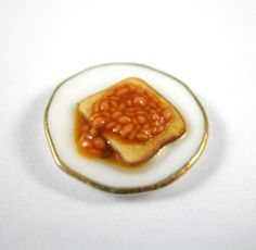 Dollhouse Miniature Food Baked Beans on Toast by littletimewasters, $5.00