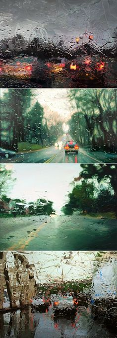 On a Rainy Day...(Crikey, what's your first guess: are those paintings or photographs?)
