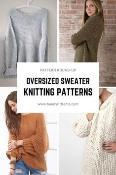 Nov 2019 - Make yourself a super cosy oversized sweater this fall with one of these free sweater knitting patterns. They are comfy, cosy and really, really versatile. Free Knitting Patterns For Women, Beginner Knitting Patterns, Jumper Knitting Pattern, Jumper Patterns, Knitting Designs, Knitting For Beginners, Free Knitting Patterns Sweaters, Knitting Projects, Knitting Ideas