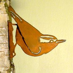 Elegant Garden Nuthatch Bird Silhouette Rusty Metal Rustic Art Decor Made in USA >>> Continue to the product at the image link. (This is an affiliate link) Metal Tree Wall Art, Metal Art, Wooden Bird Feeders, Metal Garden Art, Metal Birds, Bird Silhouette, Rusty Metal, Rustic Art, Wire Art