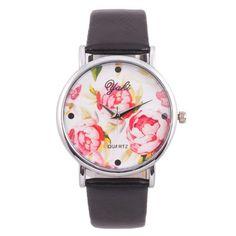 Fashion Damenuhren Damen Armbanduhr Analog Quarz Uhren Lederarmband