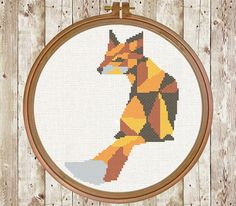 fox geometric cross stitch pattern animal от PatternArtCollection