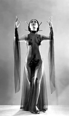 """Princess Ahi    A popular Chinese dancer during the 30's-era.. She's seen here in a promo photo dated from 1933, wearing her """"Sophisticated Lady Dance"""" costume.. She appeared at Chicago's 'DRAKE Hotel' and the infamous mob-owned 'COLOSIMO'S nightclub, during this period.."""