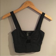 NWT Black Cut Out Crop Top. NWT Black Cut Out Crop Top. Forever 21 Tops Crop Tops