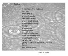 an analysis of the life and poems of audre lorde an american poet Audre lorde: poetry audre lorde 1992) was an american writer, feminist social injustices she observed throughout her life[1] her poems and prose largely deal.