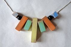 Wooden bead drop necklace van bhmakes op Etsy, £100.00