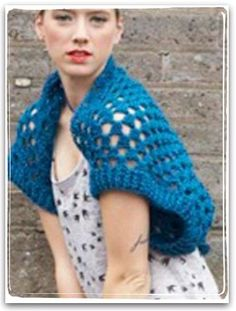 #Crochet granny square shrug from @Vickie Howell