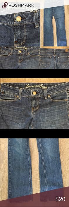 💙AMERICAN EAGLE OUTFITTERS JEANS 💙 Straight leg size four too cute! Pet free and smoke free home! I discount 20% with any purchase of two or more just hit bundle under the picture of each item you want👍😀 If you don't see what you want/ I have tons to list... Just ask! American Eagle Outfitters Jeans Straight Leg