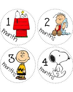 Monthly Onesie Baby Stickers decals Peanuts Gang Charlie Brown Snoopy bodysuit Month to Month Stickers via Etsy Snoopy Nursery, Baby Snoopy, Snoopy Love, Brown Nursery, Rivera, Baby Monthly Milestones, Baby Stickers, Baby Keepsake, Wishes For Baby