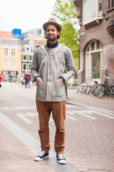 Arnold is wearing a jeans jacket from GlueJeans.  [ Street Style - fashion, street fashion, streetstyle, menswear, Urban Visualist ]  See original post on www.urbanvisualist.com