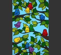 """""""Bird Tree"""" by Heather Brown www.HeatherBrownArt.com"""