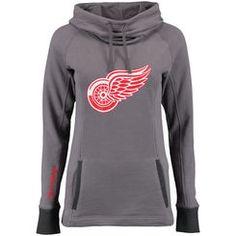 Detroit Red Wings Women's Laguna Cowl Neck Pullover Sweatshirt - Gray