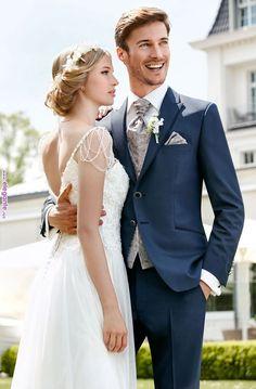 ideas for wedding suits men grey vintage groomsmen Blue Suit Wedding, Tuxedo Wedding, Wedding Men, Wedding Groom, Wedding Suits, Wedding Attire, Wedding Styles, Wedding Dresses, Vintage Groomsmen