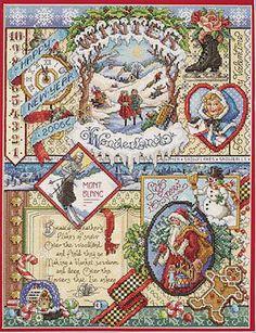 SALE   Cross Stitch Kit - Janlynn Winter Sampler