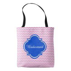 Bridesmaid Bachelorette Chevron Tote bag #chevron #pattern #accessories