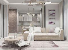 Nagyon szép, lágy színek harmóniája - 51m2-es lakás ügyes berendezése az eredeti alaprajz átdolgozásával