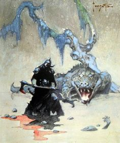 frazetta:  Preliminary for Death Dealer IV.