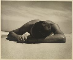 Vintage photo print homoerotic black and white photograph gay art photography male physique poster wall decor gift man lying on beach Cool Pictures, Cool Photos, Lisa, Beach Posters, Couple Beach, Historical Images, Gay Art, Male Physique, Black And White Photography