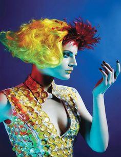 Mario Sorrenti - Guinevere van Seenus - stylist Edward Enninful - makeup Dick Page - set design Philipp Haemmerle
