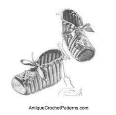 Crochet Baby Booties Pattern - Free Baby Bootie Crochet Pattern