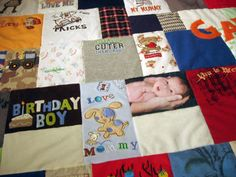 Baby Clothes Memory Quilt - http://www.jellybeanquilts.com