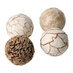SOMLIG Dekoration, Ball, naturfarben