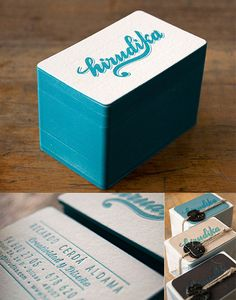Painted Letterpress Business Card | Business Cards | The Design Inspiration