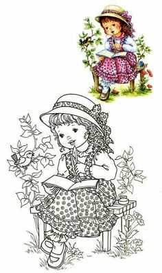 Little World - Mama Mia - Picasa Web Albums Coloring Book Pages, Printable Coloring Pages, Coloring Pages For Kids, Relaxing Art, Holly Hobbie, Embroidery Patterns, Paper Embroidery, Doily Patterns, Embroidery Dress