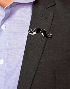 Image 3 of River Island Moustache Collar Pin
