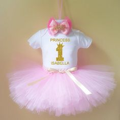 Princess 1st Birthday Outfit  1st Birthday Girl by maggishop12