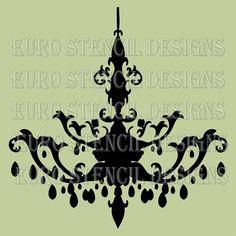 Typography 8 maison de stencils stampsstencils pinterest euro stencil design chandelier k french by eurostencildesigns aloadofball Image collections
