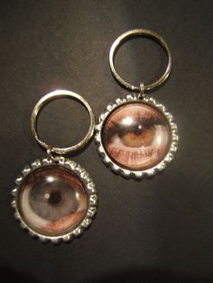 Chioce of eyeball metal and glass bottle cap by jenuineserendipity, $12.50
