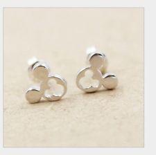 925 Sterling Silver Disney Mickey Mouse Stud Earrings Gift Box AJ