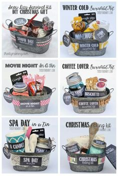 Gift in a Tin: Christmas Baking Kit DIY Gift Basket Ideas : for Spa Day , Coffee Lovers, Winter Christmas & Movie Night.)DIY Gift Basket Ideas : for Spa Day , Coffee Lovers, Winter Christmas & Movie Night. Creative Gifts, Cool Gifts, Creative Christmas Gifts, Family Christmas Gifts, Homemade Gifts For Christmas, Christmas Gift Kits, Inexpensive Christmas Gifts, Diy Gifts For Him, Diy Holiday Gifts