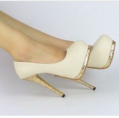 New Sexy Women Bling Platform Apricot Black Club High Heels Pumps Stiletto Shoes | eBay