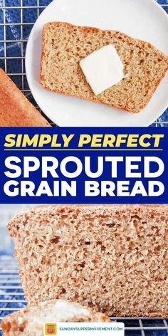 Learn how to make sprouted bread with this EASY sprouted bread recipe! Sprouted flour bread is light, flavorful, and full of goodness. Sprouted Wheat Bread, Wheat Bread Recipe, Whole Wheat Bread, Easy Bread Recipes, Thm Recipes, Raw Cake, Grain Foods, How To Make Bread