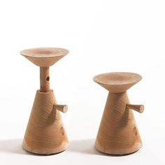 David Dolcini has created an adjustable stool made of solid cedar for Italian brand Riva 1920.