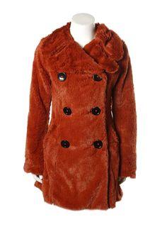 Mindo Rust Faux Fur Jacket