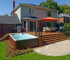 Awesome Deck With Hot Tub Ideas You Will Love Awesome Deck With Hot Tub Ideas You Will Love - MP Momentum Deep Glass- 6 seater hydromassage mini pool spa in ground hottub Whirlpool Deck, Hot Tub Backyard, Hot Tub Pergola, Backyard Kitchen, Backyard Pools, Outdoor Spa, Outdoor Decor, Jacuzzi Outdoor, Outdoor Living