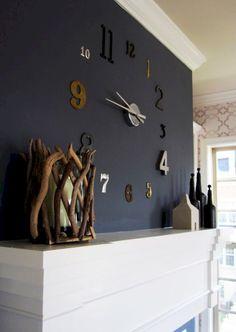 wall clock decor living room 758293655997998041 - 12 Unique DIY Large Wall Clock Ideas For Stunning Living Room Decoration 13 Source by Clock, Room Decor, Clock Decor, Decor, Diy Clock Wall, Big Wall Clocks, Cool Walls, Wall, Home Decor