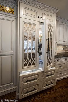 Love this mirrored fridge in Kim Zolciaks house!