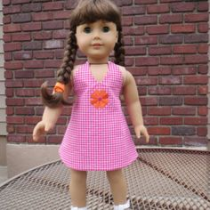 "Brand new pattern out! Double Take Reversible Sundress Pattern for 18"" doll such as the American Girl doll"