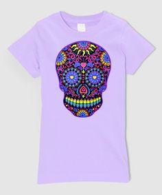 Lavender Neon Skull Fitted Tee - Infant, Toddler & Girls #zulily #zulilyfinds