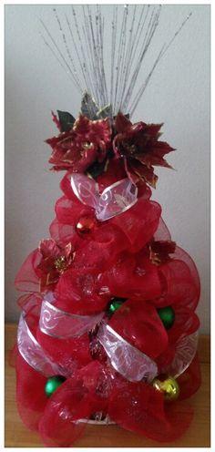 Deco mesh Christmas Tree by La Vie en Craft