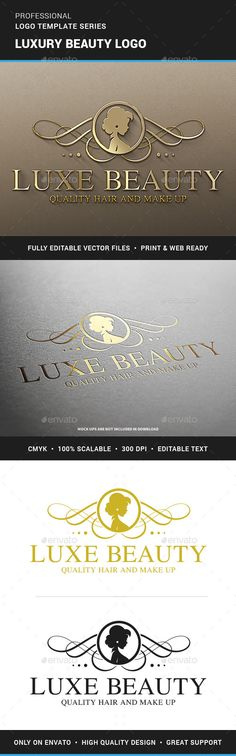 Luxury Beauty Logo PSD Template • Download ↓ https://graphicriver.net/item/luxury-beauty-logo-template/12502952?ref=pxcr